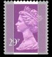 1989 GB - SGX1054 (UG76) 29p 2B Purple (W) from GG1 PPIP MNH