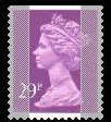 1989 GB - SGX1054 (UG76) 29p 2B Purple (W) from GG1 IPPP MNH