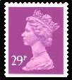 1990 GB - SGX1055 (UG77) 29p ACP Purple (W) from GG2 PPIP MNH