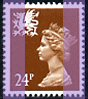 1992 GB - SGW60 (XWL45) 24p Chestnut 2B (Q) from Wales DX13 MNH