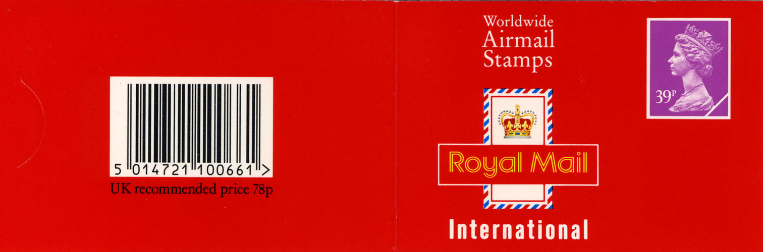 1992 GB - GD4a £0.78 - 2 x 39p Kellogs Promo Booklet Cyl W2