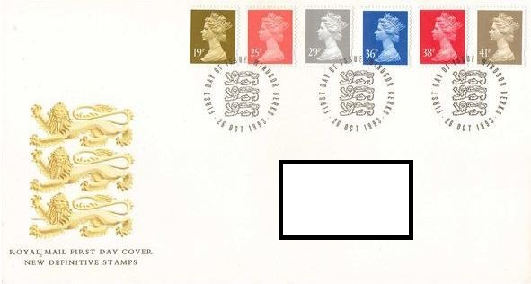 1993 GB - FDC-W - 6 x Changed Definitives 19p to 41p (Addressed)