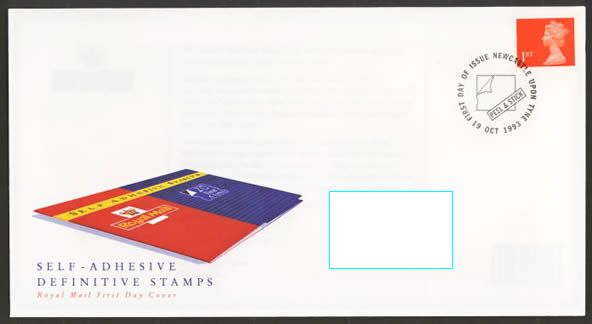 1993 GB - FDC - Walsall 1st Booklet NVI (Addressed)