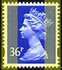 1994 GB - SGY1702 (U357b) 36p Ultramarine 2B (E) 4mm Mrginal MNH