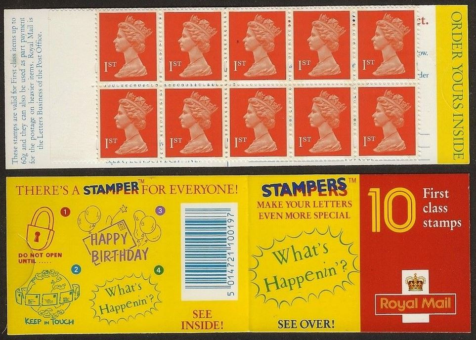 1994 GB - HD19 - 10 x 1st (W) Stampers No4: Whats Happenin Plain
