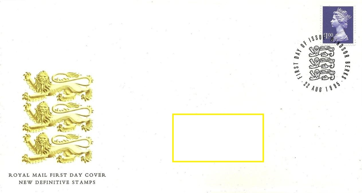1995 GB - FDC-W - £1.00 Enschedé BF from Sheet (Addressed)