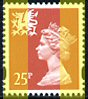 1995 GB - SGW73a 25p Red 2B Litho (Q) YF from DX17 MNH