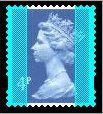 1995 GB - SGY1669 (U132C) 4p Blue 2mm Varnish (BF) Blue Gum MNH