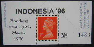 1996 GB - Boots Label - Indonesia '96 Stamp Exhibition Ltd FU