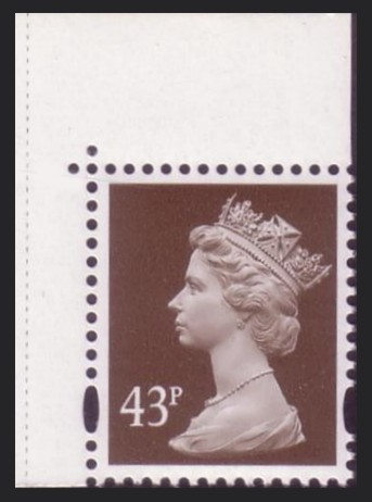 1998 GB - SGY1711a (U405) 43p (W) from Speed PB P.14 MNH (DP271)