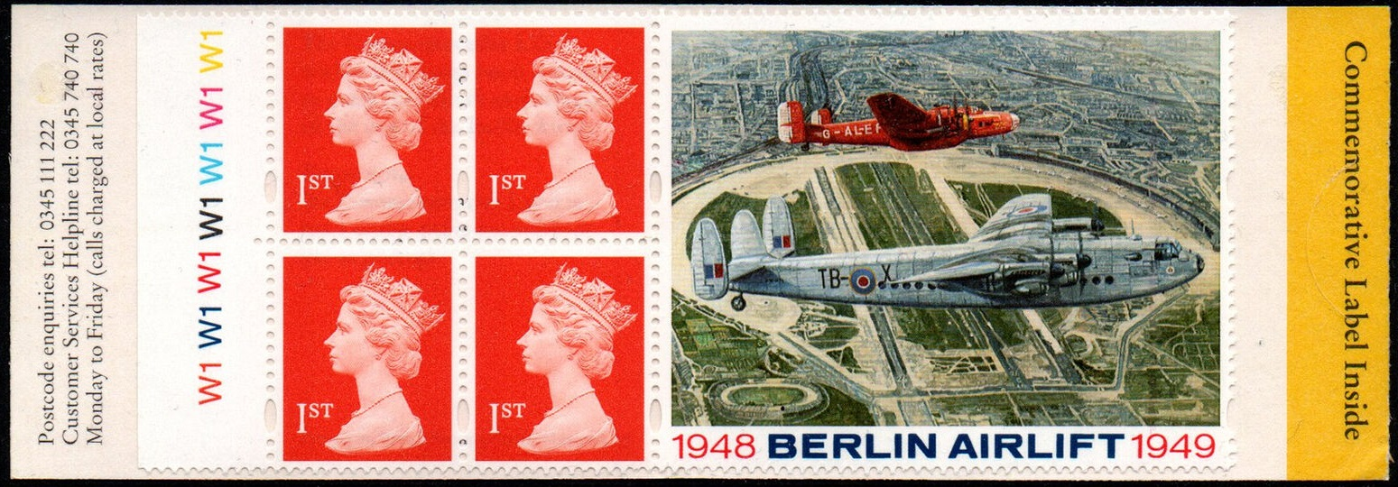 1999 GB - HB17 - 4 x 1st Flame (W) Berlin Airlift Booklet Cyl W1