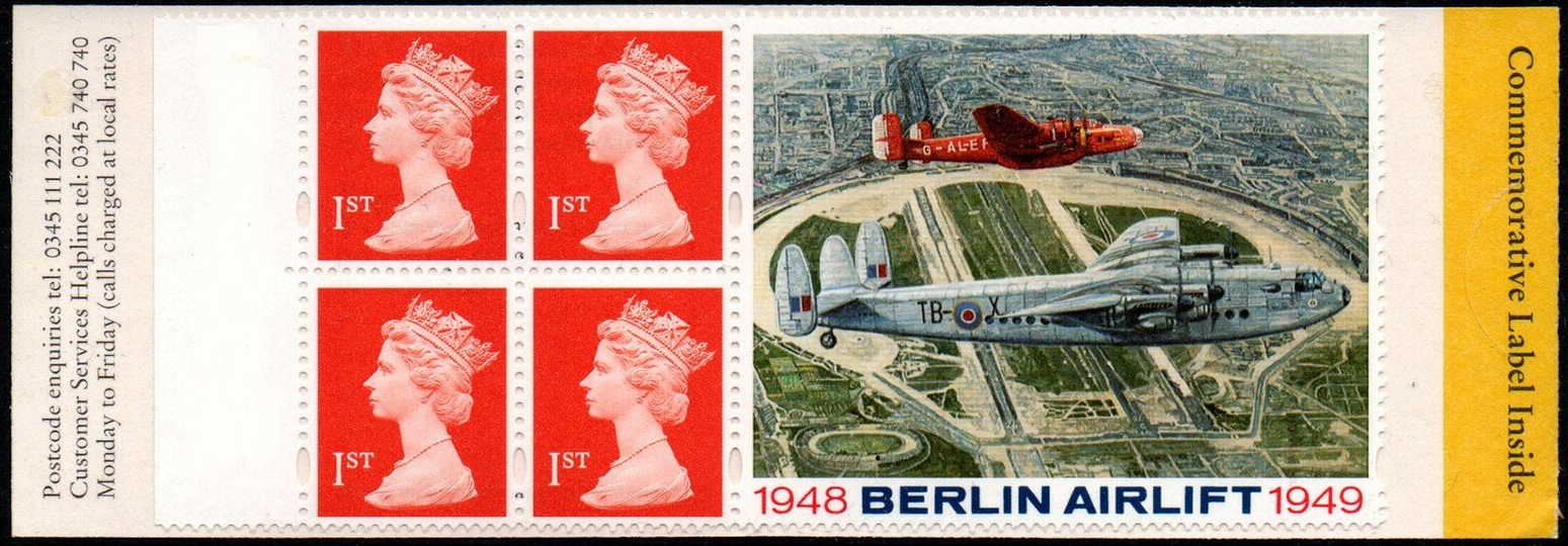 1999 GB - HB17 - 4 x 1st Flame (W) Berlin Airlift Booklet Plain
