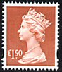 2000 GB - SGY1800 (UC18) £1.50 Red-Brown (D) Recess Printed MNH