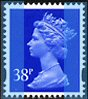1999 GB - SGY1701 (U373) 38p Ultramarine 2B (D) Sheet MNH