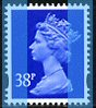 1999 GB - SGY1701 (U374) 38p Ultramarine 2B (W) from Bk GLA1 MNH