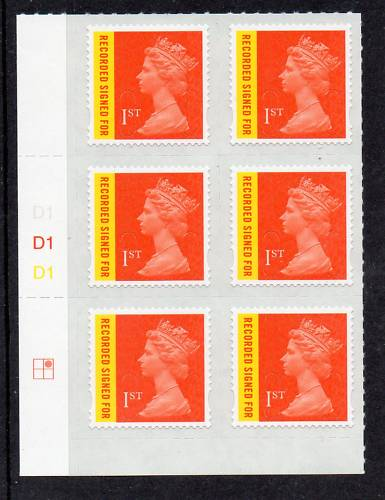 2009 GB - SGU2981 REC SIGNED FOR CYL D1 (6) PA (C1R2) MNH