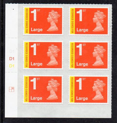 2009 GB - SGU2982 REC SIGNED FOR LARGE CYL D1 (6) PA (2) MNH