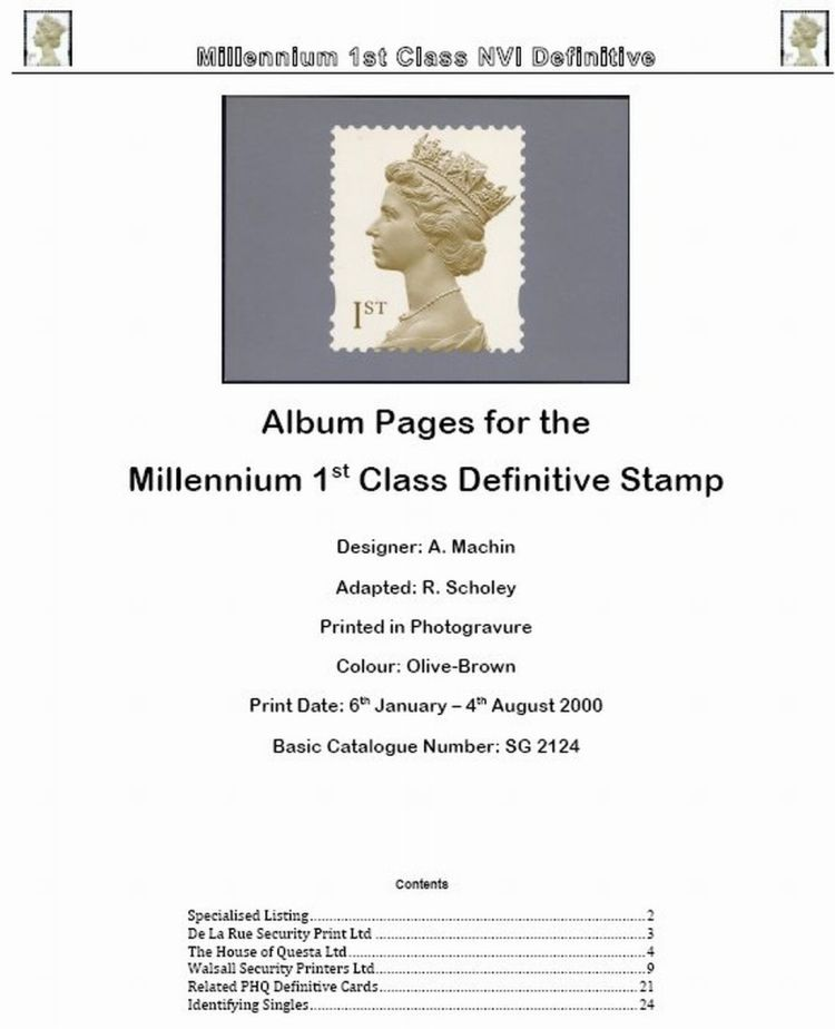 2000-2009 GB - 1st Class Millennium Machin Definitive Album v1.9