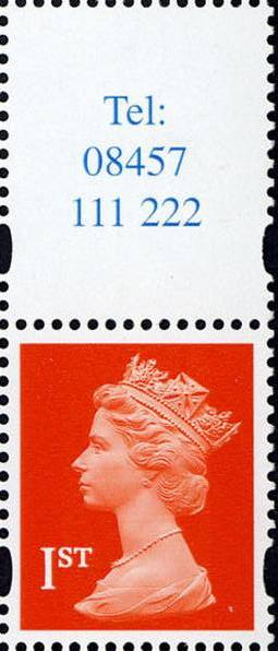 2000 GB - SG1667 (UQB14) 2nd NVI Single from Bklt FH44 (1) MNH