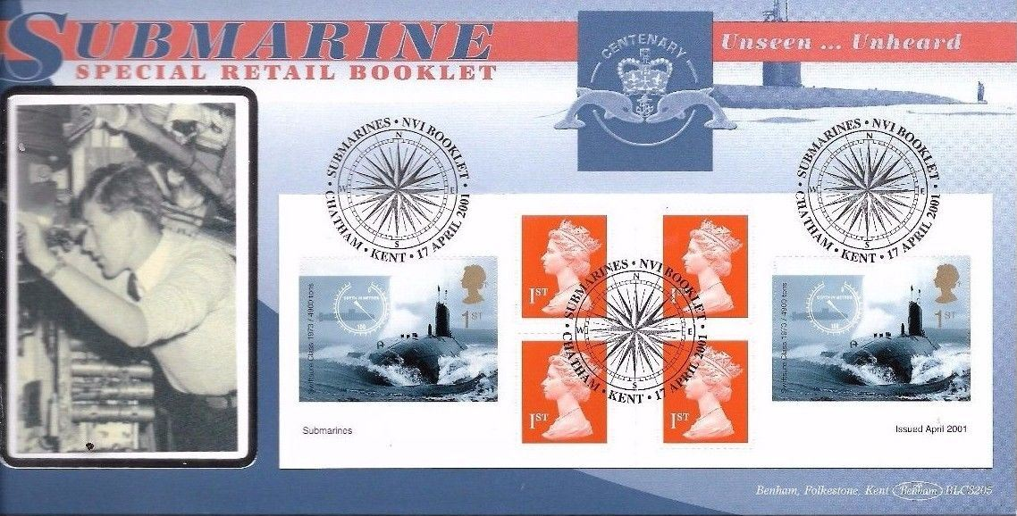 2001 GB - BLCS205 - Submarines Retail Book (Benham FDC) Scarce