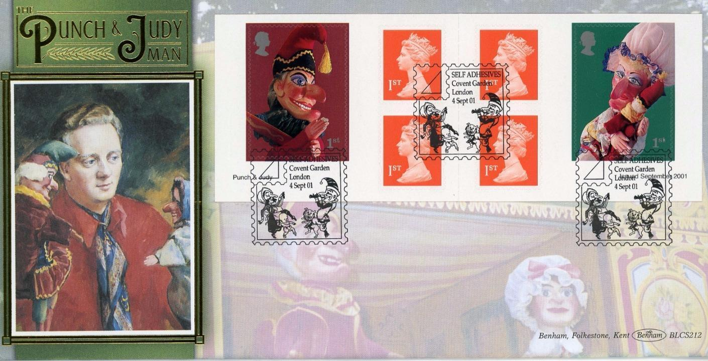 2001 GB - BLCS212 - Punch and Judy Retail Book (Benham FDC)