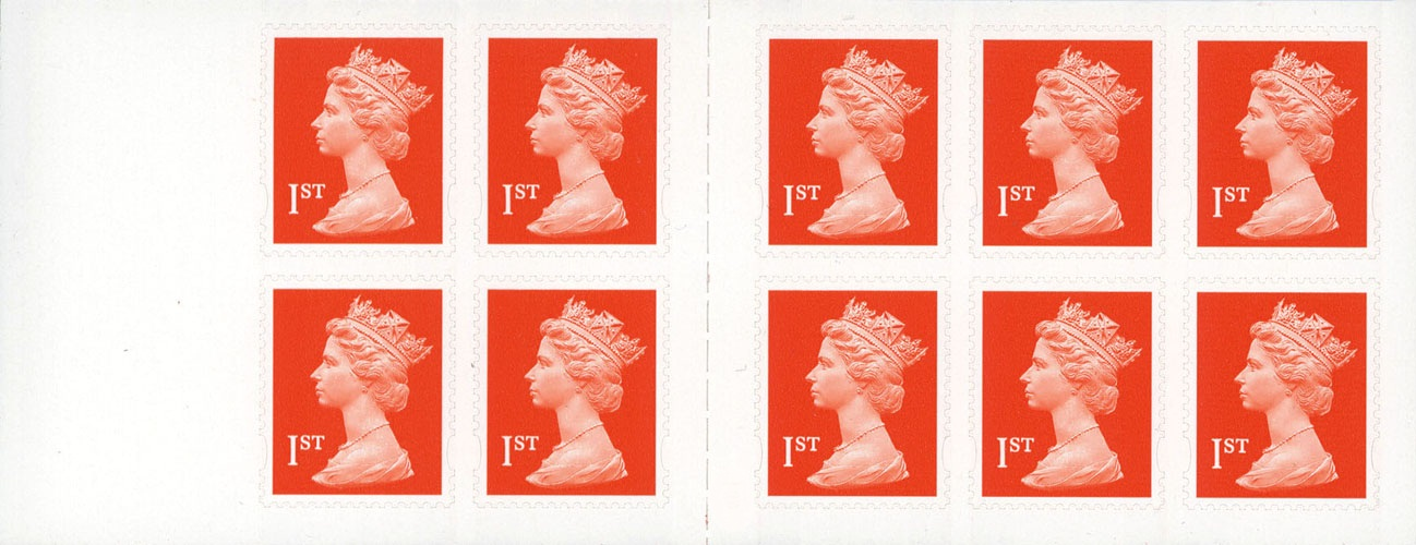 2001 GB - MD1 - 10 x 1st Flame (Q) Plain