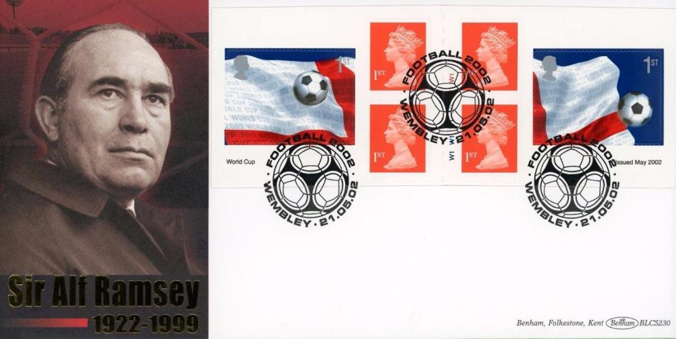 2002 GB - BLCS230 - World Cup Retail Cylinder Book (Benham FDC)