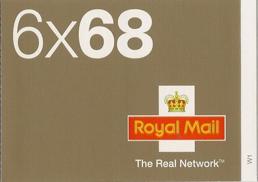2003 GB - NB2 £4.08 - 6 x 68p Real Network Booklet (Cyl W1)