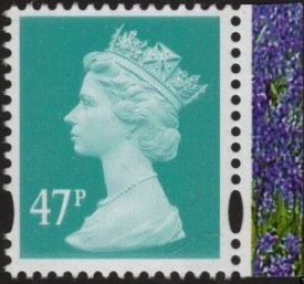 2004 GB - SGY1723 (U418) 47p Turquoise Green (E) from RHS PB MNH