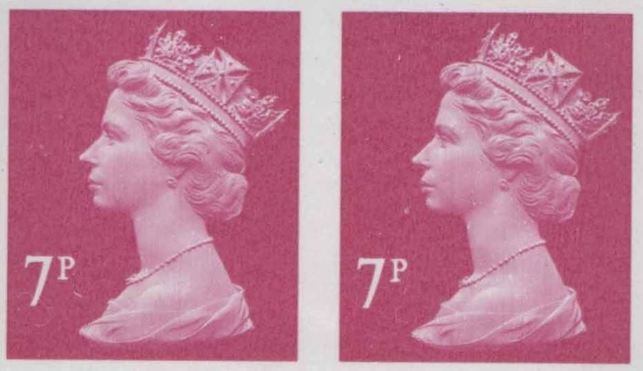 2004 GB - SGY1673 (U157Bi) 7p 2B (D) Magenta Imperforate Pr MNH