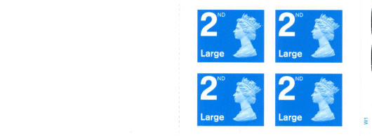 2006 GB - RA1 - 4 x 2nd (W) Large Bright Blue Booklet Plain