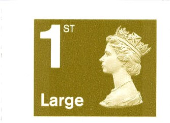 2006 GB - SG2657 Single 1st Lge Gold (W) from RB1 Bk of 4 MNH