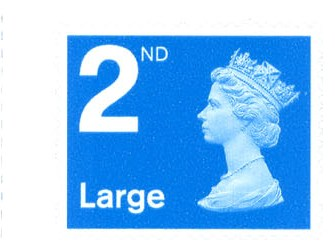 2006 GB - SG2656 2nd Lge Blue (W) Single from RA1 Bk of 4 MNH