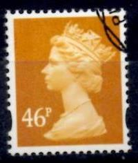 2005 GB - SGY1722 (U413) 46p (D) Old Gold frm Sht (Original) VFU