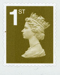 2007 GB - 1st Gold PiP (W) S-Adhesive from SA1 Booklet r1.2 MNH