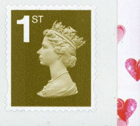 2007 GB - 1st Gold PiP (W) S-Adhesive from SA1 Booklet r2.3 MNH