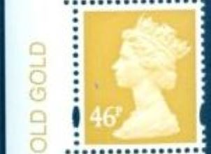 2007 GB - SGY1722v (U414) 46p (D) Old Gold (No Logo) Colour MNH
