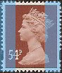2007 GB - SGY1728 (U444) 54p Red-Brown 2B (D) Gravure MNH