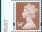 2007 GB - SGY1728 (U444) 54p Red-Brown 2B (D) Colour Single MNH