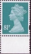 2008 GB - SGY1739 81p (D) Sea Green 2B Bottom Marginal MNH