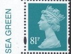 2008 GB - SGY1739 (U477) 81p (D) Sea Green 2B Colour Single MNH