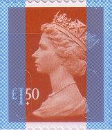 2009 GB - SGU2913 (UJD8) £1.50 Brown-Red (D) Marginal Machin MNH