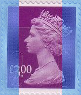 2009 GB - SGU2915 (UJD10) £3.00 Dp Mauve (D) Security Machin MNH