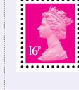 2009 GB - SGY1769 (UG37A) 16p Cerise 2B (C) from DX44 PB MNH