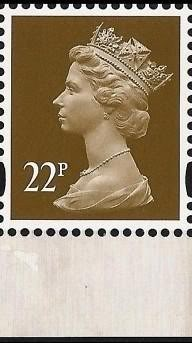 2009 GB - Y1751n (UG58) 22p (C) 2B from Treasury (DX46) MNH