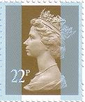2009 GB - SGY1688 (U282A) 22p Stone (D) from Sheet MNH