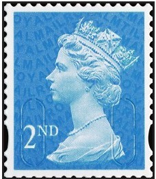 2009 GB - Single 2nd Blue (W) from ME05 Bk of 12 (MTIL) MNH