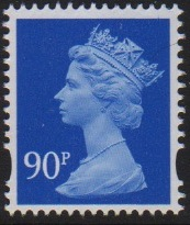 2009 GB - SGY1786 (U478) 90p 2B (D) Ultramarine Sheet MNH