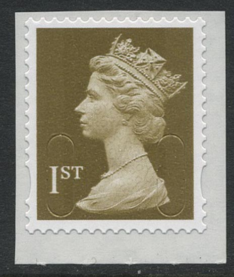 2009 GB - Single 1st Gold (W) from PM16 Design Classics 1 MNH