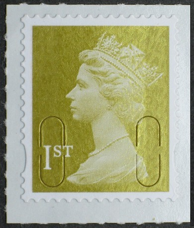 2009 GB - SGU2942 (UJD3) 1st Gold Security Machin Single MNH